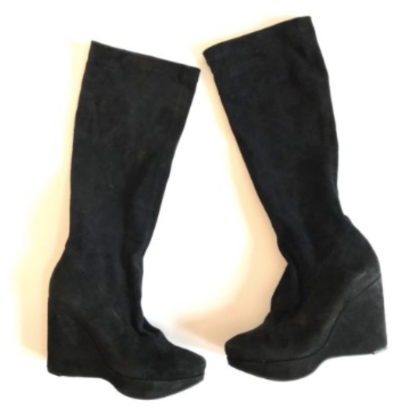 8d33c3149630 Robert Clergerie Boots 8 Knee High Wedge Suede. M 5b7c9eaf8ad2f9cf3694452b